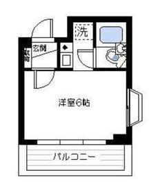 鶴見三和プラザ7階Fの間取り画像