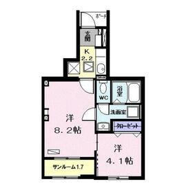 kujira-so1階Fの間取り画像
