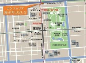 亀戸駅 徒歩17分案内図