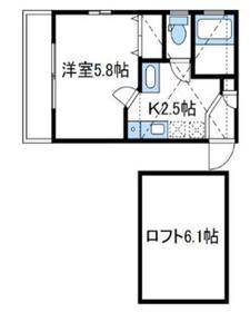カーサアバンチ2階Fの間取り画像