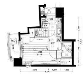 メインステージ日本橋箱崎Ⅱ5階Fの間取り画像