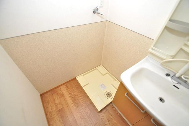 メゾンドゥエスポワール 室内に洗濯機置き場があれば雨の日でも安心ですね。