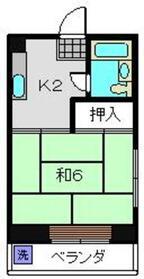 コーポびんご3階Fの間取り画像