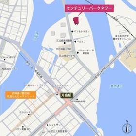 センチュリーパークタワー案内図