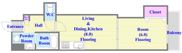 キッチンが独立していますので、いやな匂いがこもりませんよ。