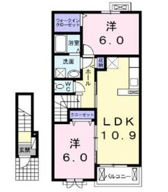 さがみ野駅 徒歩25分2階Fの間取り画像
