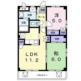パーソナル Ⅰ2階Fの間取り画像