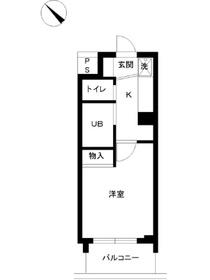 スカイコート原宿2階Fの間取り画像