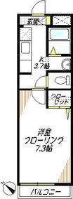 メゾン メルベーユ3階Fの間取り画像