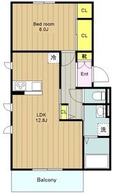 クレセリアⅢ3階Fの間取り画像