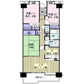 北仙台シティプレイス東館 606号室6階Fの間取り画像
