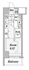 メイクスデザイン川崎11階Fの間取り画像