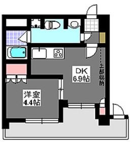 成増駅 徒歩4分4階Fの間取り画像