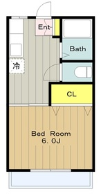 桜ヶ丘ハイム1階Fの間取り画像