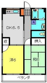 大倉山駅 バス11分「駒岡車庫」徒歩2分4階Fの間取り画像