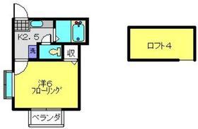 片倉町駅 徒歩19分2階Fの間取り画像