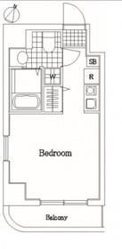 グリフィン横浜・アネシス8階Fの間取り画像