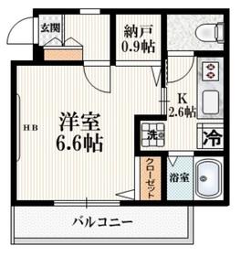 メゾン三宿3階Fの間取り画像