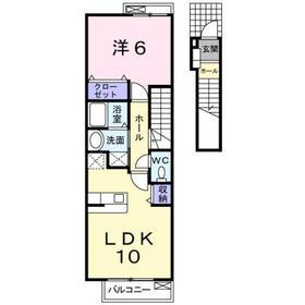ディスポワール Ⅱ2階Fの間取り画像