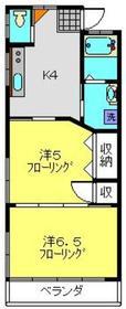 井土ヶ谷駅 徒歩20分2階Fの間取り画像