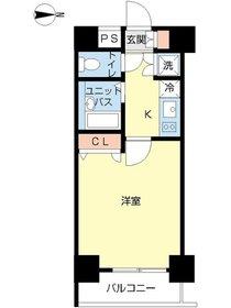 スカイコート神田第53階Fの間取り画像