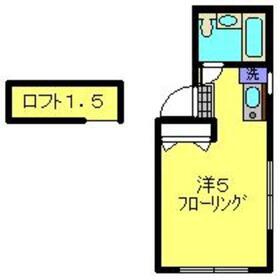 ジュネスITO2階Fの間取り画像