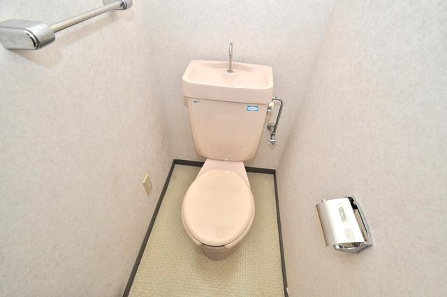 ブルーメンハウス 清潔感のある爽やかなトイレ。誰もがリラックスできる空間です。