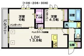 仙川駅 徒歩17分3階Fの間取り画像