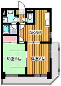 地下鉄成増駅 徒歩6分2階Fの間取り画像