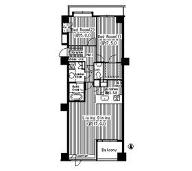 パークサイド・ウイングス8階Fの間取り画像