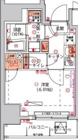 京急川崎駅 徒歩9分3階Fの間取り画像