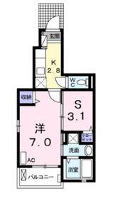 サニーアヴェニュー1階Fの間取り画像