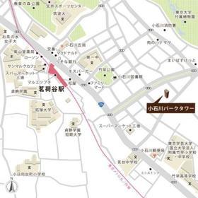 小石川パークタワー案内図
