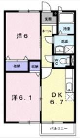 エルディムボナール A2階Fの間取り画像