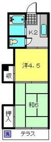 田口ホーム1階Fの間取り画像