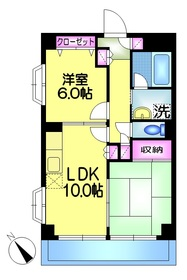 ヴァン・ベール瑞江4階Fの間取り画像