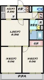 シオン山王21階Fの間取り画像