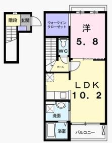カーサ・プリマベーラ2階Fの間取り画像