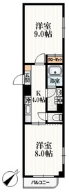 ドミール東中野3階Fの間取り画像