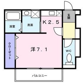 鶴川駅 バス7分「真光寺中学校入口」徒歩2分1階Fの間取り画像