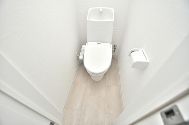 solana岸田堂 清潔感のある爽やかなトイレ。誰もがリラックスできる空間です。