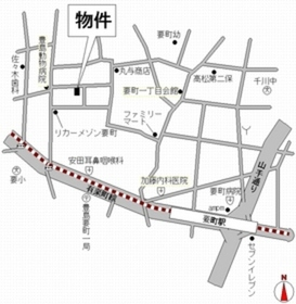 池袋駅 徒歩16分案内図