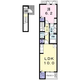 ドミール2階Fの間取り画像