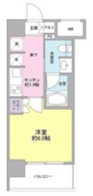 ルメイユ横浜関内8階Fの間取り画像