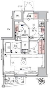 VERXEED横濱WEST7階Fの間取り画像