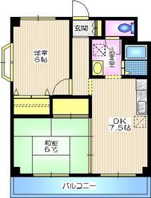 HILLS KOBAYASHI1階Fの間取り画像