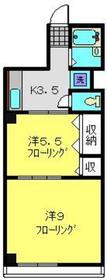 三陽ビル3階Fの間取り画像