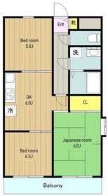 ライオンズマンション町田南4階Fの間取り画像