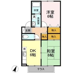 セジュール佐藤1階Fの間取り画像