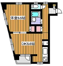 ヴィルヌーヴ赤塚2階Fの間取り画像